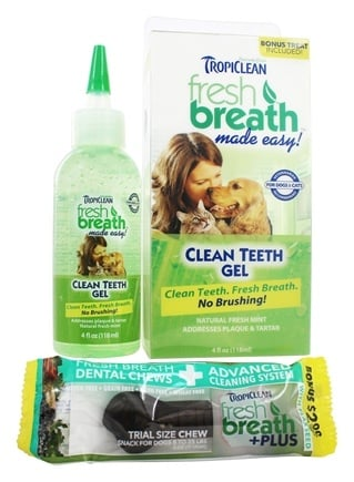 Tropiclean - Fresh Breath Clean Teeth Gel - 4 oz.