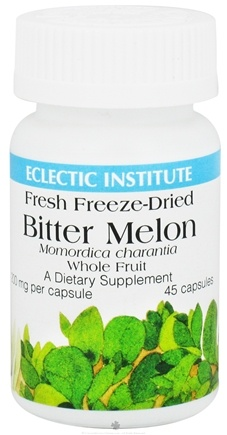 DROPPED: Eclectic Institute - Bitter Melon Whole Fruit Fresh Freeze-Dried 200 mg. - 45 Capsules