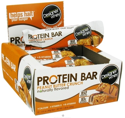 DROPPED: Designer Protein - Designer Whey Protein Bar Peanut Butter Crunch - 1.41 oz. CLEARANCE PRICED