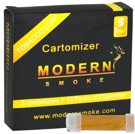 DROPPED: Modern Smoke - Electronic Cigarette Cartomizer Tobacco Flavor Low Nicotine 6 mg. - 5 Pack(s)