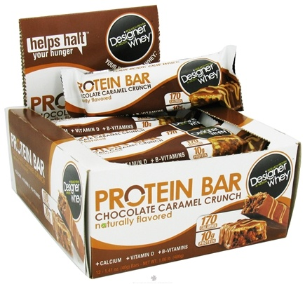 DROPPED: Designer Protein - Designer Whey Protein Bar Chocolate Caramel Crunch - 1.41 oz. CLEARANCE PRICED