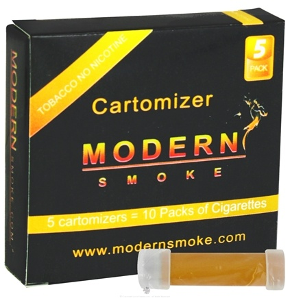 DROPPED: Modern Smoke - Electronic Cigarette Cartomizer Tobacco Flavor No Nicotine - 5 Pack(s)