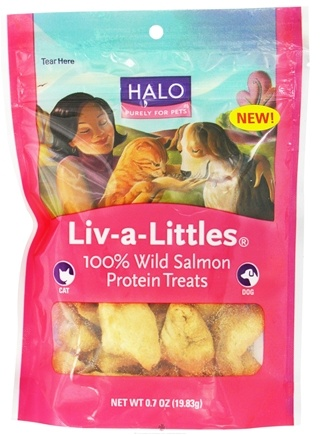 DROPPED: Halo Purely for Pets - Liv-A-Littles 100% Wild Salmon Protein Treats - 0.7 oz. CLEARANCE PRICED