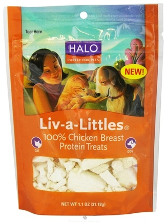 DROPPED: Halo Purely for Pets - Liv-A-Littles 100% Chicken Breast Protein Treats - 1.1 oz.