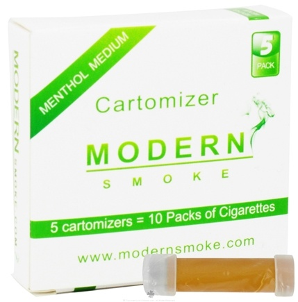 DROPPED: Modern Smoke - Electronic Cigarette Cartomizer Menthol Flavor Medium Nicotine 11 mg. - 5 Pack(s) CLEARANCE PRICED