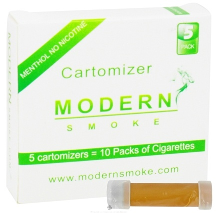 DROPPED: Modern Smoke - Electronic Cigarette Cartomizer Menthol Flavor No Nicotine - 5 Pack(s)