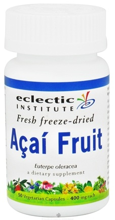 DROPPED: Eclectic Institute - Acai Fruit Fresh Freeze-Dried 400 mg. - 50 Vegetarian Capsules CLEARANCE PRICED