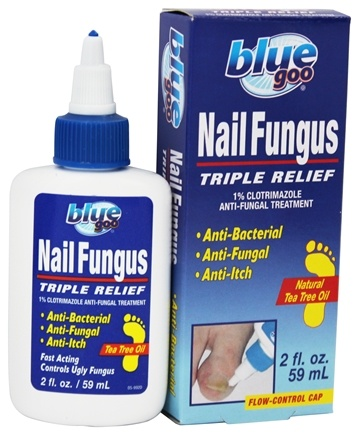 Blue Goo - Nail Fungus Triple Relief Anti-Fungal Treatment with Natural Tea Tree Oil - 2 oz.