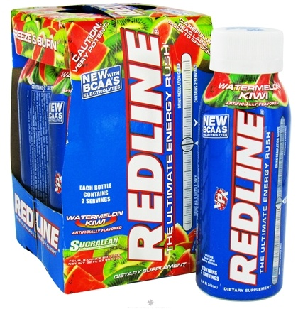 DROPPED: VPX - Redline RTD Energy Drink 4 x 8oz. (4 pack) Watermelon Kiwi