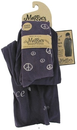 DROPPED: Maggie's Organics - Scarf & Sock Organic Gift Set Peace Plum - CLEARANCE PRICED