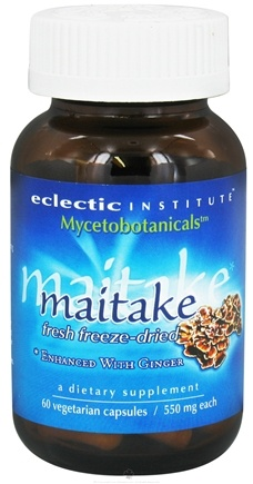 DROPPED: Eclectic Institute - Mycetobotanicals Maitake Fresh Freeze-Dried 550 mg. - 60 Vegetarian Capsules CLEARANCE PRICED