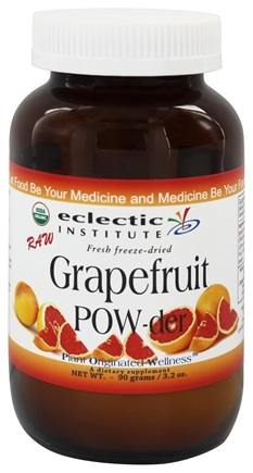 Eclectic Institute - Grapefruit Powder Whole Fresh Freeze-Dried - 90 Grams