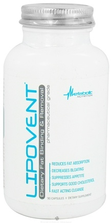 DROPPED: Metabolic Nutrition - Lipovent Dietary Fat Binding & Removal - 90 Capsules CLEARANCE PRICED