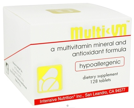 DROPPED: Intensive Nutrition, Inc. - Multi-VM Multivitamin Mineral and Antioxidant Formula - 128 Tablets CLEARANCE PRICED