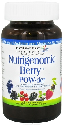 DROPPED: Eclectic Institute - Nutrigenomic Berry Powder Fresh Freeze-Dried - 90 Grams CLEARANCE PRICED