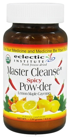 DROPPED: Eclectic Institute - Master Cleanse Spicy Powder Fresh Freeze-Dried - 130 Grams CLEARANCE PRICED