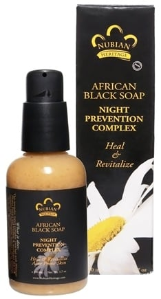 DROPPED: Nubian Heritage - African Black Soap Night Prevention Complex - 1.7 oz.