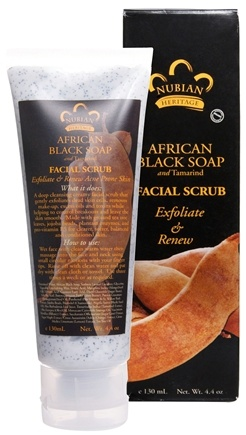 DROPPED: Nubian Heritage - African Black Soap Facial Scrub - 4.4 oz.