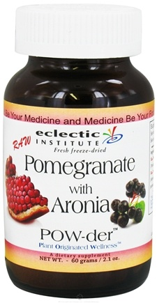 DROPPED: Eclectic Institute - Pomegranate with Aronia Powder Raw Fresh Freeze-Dried - 60 Grams CLEARANCE PRICED