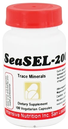 DROPPED: Intensive Nutrition, Inc. - SeaSEL-200 Trace Minerals - 100 Vegetarian Capsules CLEARANCE PRICED