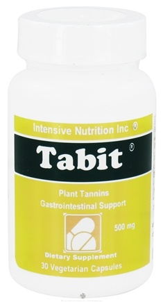 DROPPED: Intensive Nutrition, Inc. - Tabit Plant Tannins Gastrointestinal Support 500 mg. - 30 Vegetarian Capsules CLEARANCE PRICED