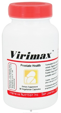 DROPPED: Intensive Nutrition, Inc. - Virimax Prostate Health - 90 Vegetarian Capsules CLEARANCE PRICED
