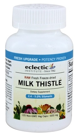 Eclectic Institute - Milk Thistle Seed Meal Fresh Freeze-Dried 600 mg. - 120 Vegetarian Capsules