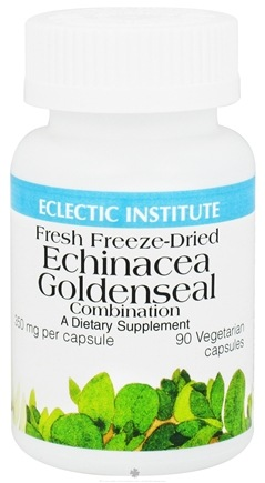 DROPPED: Eclectic Institute - Echinacea Goldenseal Combination Fresh Freeze-Dried 350 mg. - 90 Vegetarian Capsules CLEARANCE PRICED