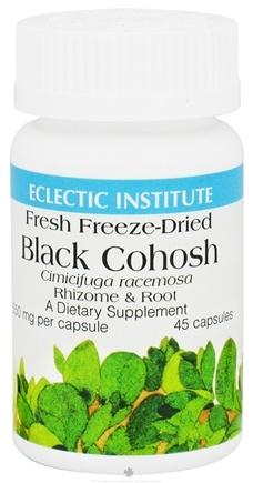 DROPPED: Eclectic Institute - Black Cohosh Rhizome & Root Fresh Freeze-Dried 550 mg. - 45 Capsules CLEARANCE PRICED