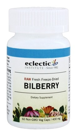 Eclectic Institute - American Bilberry Fruit Fresh Raw Freeze-Dried 400 mg. - 60 Vegetarian Capsules