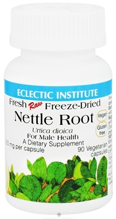 DROPPED: Eclectic Institute - Nettle Root For Male Health Fresh Raw Freeze-Dried 250 mg. - 90 Vegetarian Capsules CLEARANCE PRICED