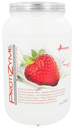 DROPPED: Metabolic Nutrition - ProtiZyme Specialized Designed Protein Strawberry Creme - 2 lbs. CLEARANCE PRICED