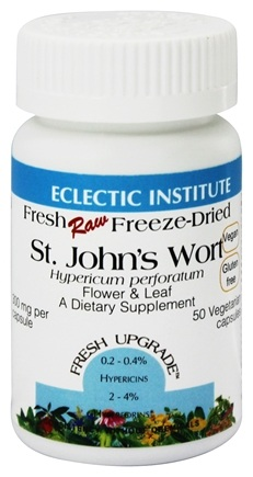 Eclectic Institute - St. John's Wort Flower & Leaf Fresh Raw Freeze-Dried 300 mg. - 50 Vegetarian Capsules
