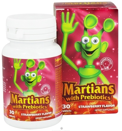 DROPPED: Natural Choice New York - Martians with Prebiotics Strawberry Flavor - 30 Tablets