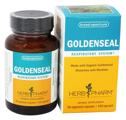 Herb Pharm - Goldenseal 540 mg. - 60 Vegetarian Capsules