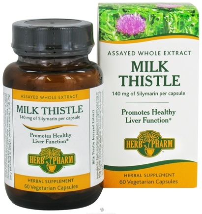 DROPPED: Herb Pharm - Milk Thistle 140 mg. - 60 Vegetarian Capsules CLEARANCE PRICED