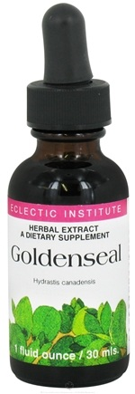 DROPPED: Eclectic Institute - Goldenseal Herbal Extract - 1 oz. CLEARANCE PRICED