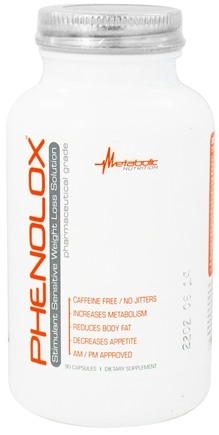 DROPPED: Metabolic Nutrition - Phenolox Stimulant Sensitive Weight Loss Solution Caffeine-Free - 90 Capsules CLEARANCE PRICED