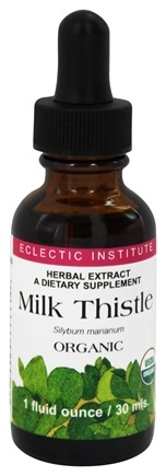 Eclectic Institute - Milk Thistle Organic Herbal Extract - 1 oz.