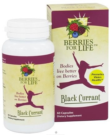 DROPPED: Berries for Life - Black Currant for Vision Health - 60 Capsules CLEARANCE PRICED