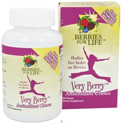 DROPPED: Berries for Life - Very Berry Antioxidant Chews - 90 Chewables