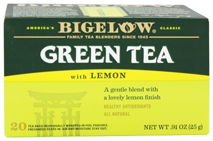 Bigelow Tea - Green Tea with Lemon - 20 Tea Bags