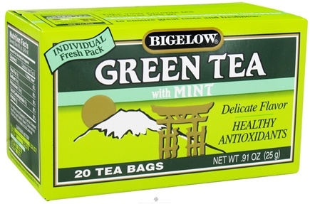 DROPPED: Bigelow Tea - Green Tea with Mint - 20 Tea Bags