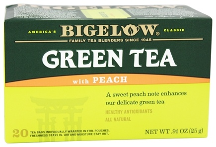 Bigelow Tea - Green Tea with Peach - 20 Tea Bags