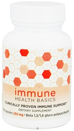 DROPPED: Immune Health Basics - Beta Glutan with Wellmune WGP Immune Support 250 mg. - 30 Capsules CLEARANCE PRICED