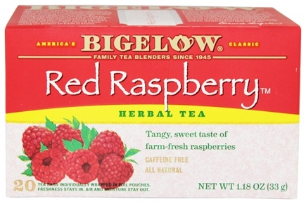 Bigelow Tea - Herb Tea All Natural Caffeine Free Red Raspberry - 20 Tea Bags