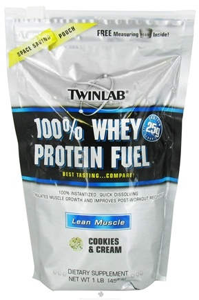 DROPPED: Twinlab - 100% Whey Protein Fuel Cookies & Cream - 1 lb.