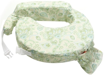 DROPPED: My Brest Friend - Original Nursing Pillow Green Paisley - CLEARANCE PRICED