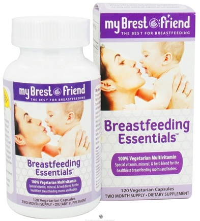 DROPPED: My Brest Friend - Breastfeeding Essentials Multivitamin - 120 Vegetarian Capsules CLEARANCE PRICED