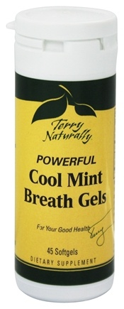 DROPPED: EuroPharma - Terry Naturally Powerful Cool Mint Breath Gels - 45 Softgels